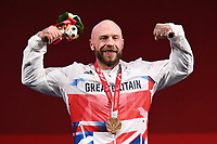 28th August 2021; Tokyo, Japan; YULE Micky (GBR),  Powerlifting : Men's 72kg Medal Ceremony during the Tokyo 2020 Paralympic Games at the Tokyo International Forum in Tokyo, Japan.