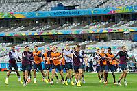The England team training