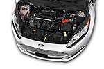 Car Stock 2017 Ford Fiesta SE 5 Door Hatchback Engine  high angle detail view