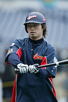 Norichika Aoki of Japan during World Baseball Championship at Petco Park in San Diego,California on March 20, 2006. Photo by Larry Goren/Four Seam Images