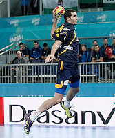 Spain's Angel Montoro Cabello during 23rd Men's Handball World Championship preliminary round match.January 15,2013. (ALTERPHOTOS/Acero) /NortePhoto