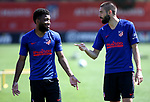 Atletico de Madrid's Thomas Lemar (l) and Yannick Carrasco during training session. May 23,2020.(ALTERPHOTOS/Atletico de Madrid/Pool)