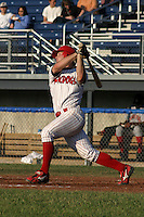 June 30, 2003:  Jack Headley of the Batavia Muckdogs during a game at Dwyer Stadium in Batavia, New York.  Photo by:  Mike Janes/Four Seam Images