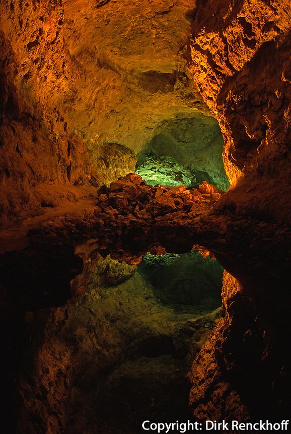 Spanien, Kanarische Inseln, Lanzarote, Cueva de los Verdes