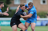 Match action during the Kingstone Press Championship match between London Broncos and Sheffield Eagles at Castle Bar , West Ealing , England  on 9 July 2017. Photo by David Horn.