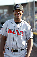 August 11, 2009: Hector Santana of the Billings Mustangs.The Mustangs are the Pioneer League affiliate for the Cincinnati Reds. Photo by: Chris Proctor/Four Seam Images