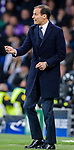 Manager Massimiliano Allegri of Juventus gestures during the UEFA Champions League 2017-18 quarter-finals (2nd leg) match between Real Madrid and Juventus at Estadio Santiago Bernabeu on 11 April 2018 in Madrid, Spain. Photo by Diego Souto / Power Sport Images