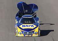 Feb. 23, 2013; Chandler, AZ, USA; NHRA funny car driver Ron Capps during qualifying for the Arizona Nationals at Firebird International Raceway. Mandatory Credit: Mark J. Rebilas-