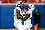 TCU Horned Frogs wide receiver Patrick Zeller (28) in action during the game between the TCU Horned Frogs and the SMU Mustangs at the Gerald J. Ford Stadium in Dallas, Texas.