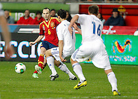 Spain's Andres Iniesta during international match of the qualifiers for the FIFA World Cup Brazil 2014.March 22,2013.(ALTERPHOTOS/Victor Blanco)