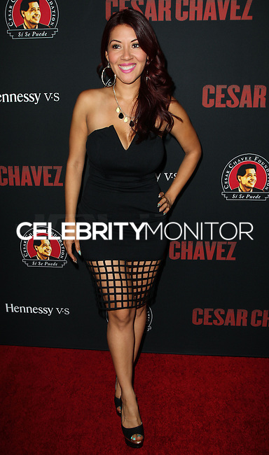 """HOLLYWOOD, LOS ANGELES, CA, USA - MARCH 20: Raquel Cordova, RAC-Q at the Los Angeles Premiere Of Pantelion Films And Participant Media's """"Cesar Chavez"""" held at TCL Chinese Theatre on March 20, 2014 in Hollywood, Los Angeles, California, United States. (Photo by Celebrity Monitor)"""