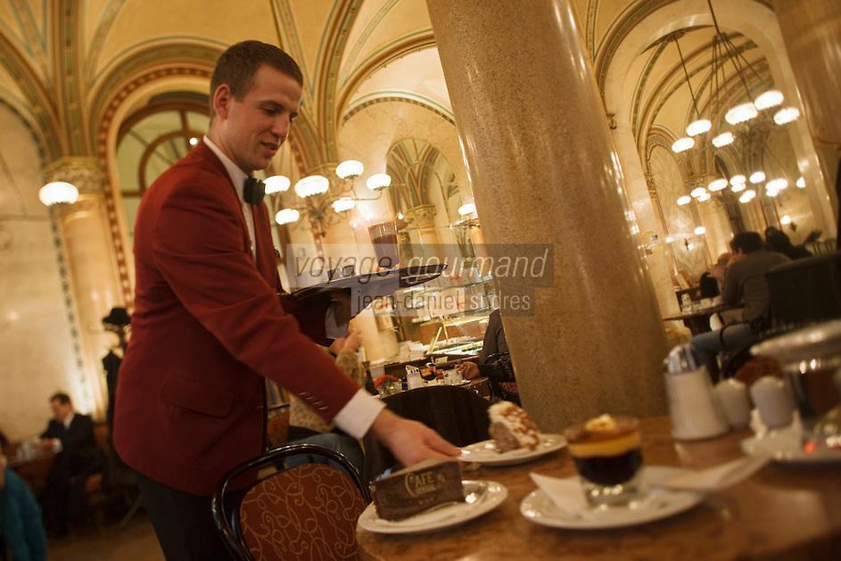 Europe/Autriche/Niederösterreich/Vienne: Café traditionnel viennois:  Le Café Central, Palais Ferstel, Herrengasse