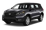 2019 Honda Passport EX-L 5 Door SUV Angular Front stock photos of front three quarter view