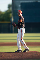 AZL Giants Black starting pitcher Israel Cruz (34) prepares to deliver a pitch during an Arizona League game against the AZL Angels at the San Francisco Giants Training Complex on July 1, 2018 in Scottsdale, Arizona. The AZL Giants Black defeated the AZL Angels by a score of 4-2. (Zachary Lucy/Four Seam Images)