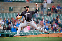 Charlotte Knights pitcher Jordan Guerrero (23) during an International League game against the Rochester Red Wings on June 16, 2019 at Frontier Field in Rochester, New York.  Rochester defeated Charlotte 11-5 in the first game of a doubleheader that was a continuation of a game postponed the day prior due to inclement weather.  (Mike Janes/Four Seam Images)