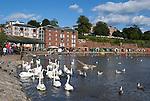 Great Britain, England, Devon, Exeter: The Quayside with waterfront cafes | Grossbritannien, England, Devon, Exeter: Cafes an der Uferpromenade