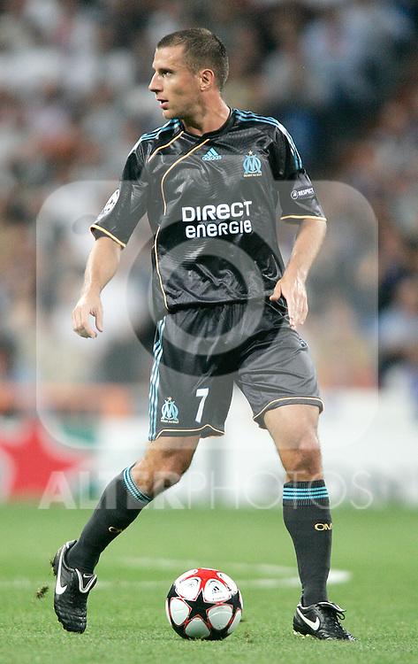 Olympique du Marseille's Benoit Cheyrou during UEFA Champions League match, September 30, 2009. (ALTERPHOTOS/Alvaro Hernandez)