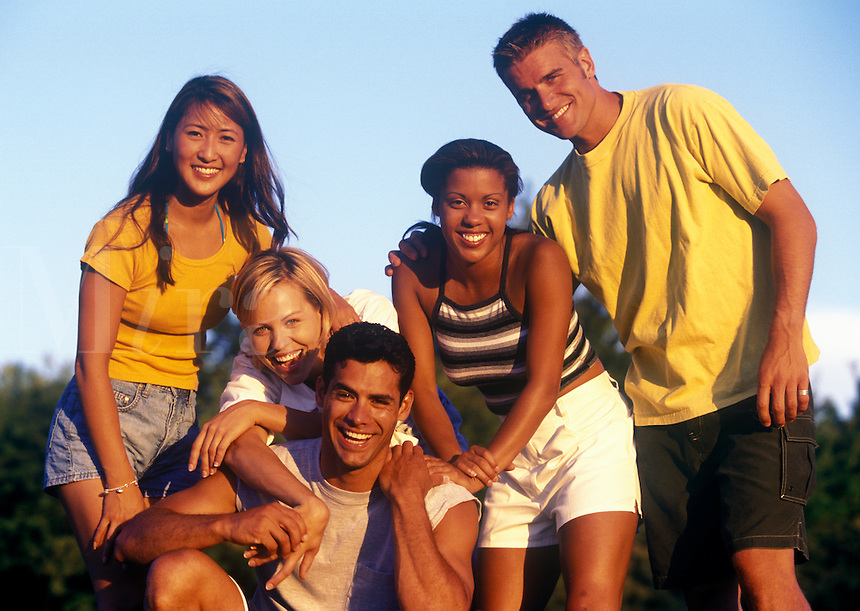 Group of smiling young adults.