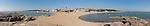 An eighteen-image panorama of Rocky Point and beaches, taken from Tiger Rocks. Beidaihe (Peitaiho), China.