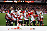 Athletic de Bilbao´s players before 2014-15 Copa del Rey final match between Barcelona and Athletic de Bilbao at Camp Nou stadium in Barcelona, Spain. May 30, 2015. (ALTERPHOTOS/Victor Blanco)