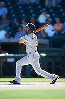Glendale Desert Dogs Jason Martin (9), of the Houston Astros organization, during a game against the Surprise Saguaros on October 22, 2016 at Surprise Stadium in Surprise, Arizona.  Surprise defeated Glendale 10-8.  (Mike Janes/Four Seam Images)
