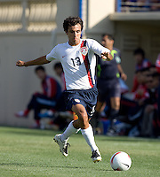 Jonathan Bornstein prepares to kick the ball. The USA defeated China, 4-1, in an international friendly at Spartan Stadium, San Jose, CA on June 2, 2007.
