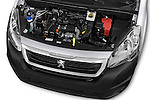 Car Stock 2015 Peugeot Partner - 4 Door Car Van Engine high angle detail view