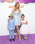 Jennifer Lopez with children Emme Maribel Muniz and Maximillian David Muniz attend The Twentieth Century Fox Special Screening of HOME held at The Regency Village Theater in Westwood, California on March 22,2015                                                                               © 2015 Hollywood Press Agency