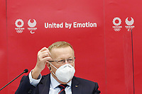 18th November 2020; Tokyo, Japan, John Coates of the IOC Organising committee speak to press and media  media on the rescheduled 2020 Olympic Games in 2021