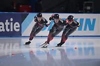 SPEEDSKATING: 24-11-2019 Tomaszów Mazowiecki (POL), ISU World Cup Arena Lodowa, Team Pursuit Men Division A (CAN), ©photo Martin de Jong