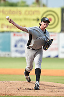 Chad Jenkins of the Dunedin Blue Jays during the game at Jackie Robinson Ballpark in Daytona Beach, Florida on August 14, 2010. Photo By Scott Jontes/Four Seam Images