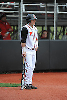 Rutgers University Scarlet Knights infielder Nick Favatella (5) during game game 1 of a double header against the University of Houston Cougers at Bainton Field on April 5, 2014 in Piscataway, New Jersey. Rutgers defeated Houston 7-3.      <br />  (Tomasso DeRosa/ Four Seam Images)
