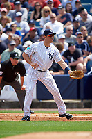 New York Yankees first baseman Mark Teixeira (25) during a Spring Training game against the Detroit Tigers on March 2, 2016 at George M. Steinbrenner Field in Tampa, Florida.  New York defeated Detroit 10-9.  (Mike Janes/Four Seam Images)