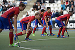GER - Mannheim, Germany, October 02: During the men hockey match between Mannheimer HC (red) and HTC Uhlenhorst Muehlheim (white) on October 2, 2016 at Mannheimer HC in Mannheim, Germany. Final score 4-4 (HT 1-3). (Photo by Dirk Markgraf / www.265-images.com) *** Local caption ***