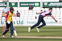 Steven Finn in bowling action for Middlesex during Essex Eagles vs Middlesex, Vitality Blast T20 Cricket at The Cloudfm County Ground on 18th July 2021