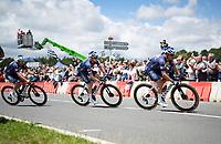 Team Alpecin-Fenix controlling the peloton<br /> <br /> Stage 4 from Redon to Fougères (150km)<br /> 108th Tour de France 2021 (2.UWT)<br /> <br /> ©kramon