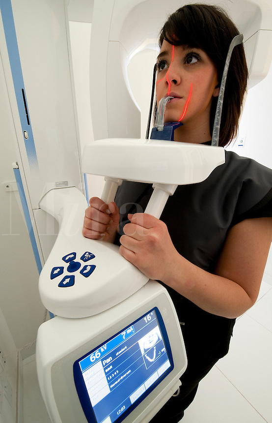 Computerized dental imaging technology.