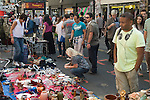 Brick Lane market stall stuff for sale. Tower Hamlets, London E1 UK