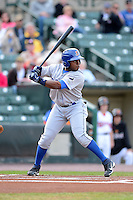 Durham Bulls outfielder Jason Bourgeois #33 during a game against the Rochester Red Wings on May 17, 2013 at Frontier Field in Rochester, New York.  Rochester defeated Durham 11-6.  (Mike Janes/Four Seam Images)