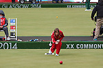 Glasgow 2014 Commonwealth Games<br /> <br /> Anwen Butten  (Wales) competing in the lawn bowls women's pairs.<br /> <br /> 30.07.14<br /> ©Steve Pope-SPORTINGWALES