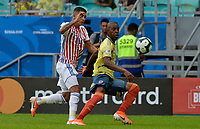 SALVADOR – BRASIL, 23-06-2019:Cristian Borja de Colombia disputa el balón con Derlis Gonzalez de Paraguay durante partido de la Copa América Brasil 2019, grupo B, entre Colombia y Paraguay jugado en el Arena Fonte Nova de Salvador, Brasil. /Cristian Borja of Colombia vies for the ball with Derlis Gonzalez of Paraguay during the Copa America Brazil 2019 group B match between Colombia and Paraguay played at Fonte Nova Arena in Salvador, Brazil. Photos: VizzorImage / Julian Medina / Cont /