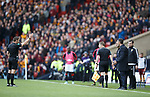 Ref Steven mcLean sends off both managers