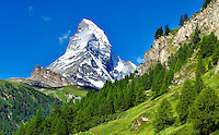 Matterhorn mountain peak - Swiss Alps - Switzerland