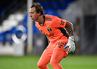 LAKE BUENA VISTA, FL - AUGUST 01: Steve Clark #12 of the Portland Timbers prepares for a shot during a game between Portland Timbers and New York City FC at ESPN Wide World of Sports on August 01, 2020 in Lake Buena Vista, Florida.