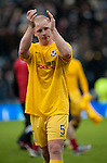 GLASGOW, SCOTLAND - JANUARY 28:   Ayr United's Chris Smith dejection at the end of the Scottish Communities Cup Semi Final match between Ayr United and Kilmarnock at Hampden Park on January 28, 2012 in Glasgow, United Kingdom. (Photo by Rob Casey/Getty Images).