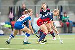 Mannheim, Germany, October 03: During the 1. Bundesliga women fieldhockey match between Mannheimer HC and Grossflottbeker THGC on October 3, 2020 at Am Neckarkanal in Mannheim, Germany. Final score 0-0. (Copyright Dirk Markgraf / www.265-images.com) *** Verena Neumann #19 of Mannheimer HC