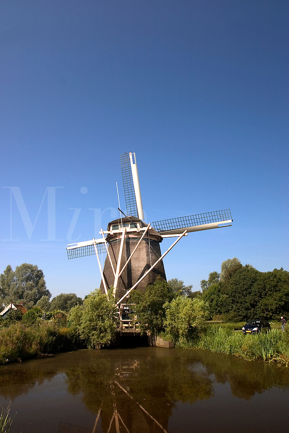 Windmill near Amsterdam, The Netherlands.