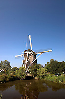 Windmill near Amsterdam, The Netherlands.
