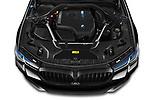 Car Stock 2021 BMW 5-Series 530e-Edition-M-Sport 4 Door Sedan Engine  high angle detail view