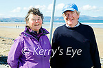 Enjoying a stroll in Banna beach on Tuesday, l to r: Deirdre and Michael Maguire from Ardfert.